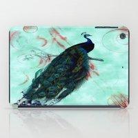 mandie manzano iPad Cases featuring Peacock by SuzanneCarter