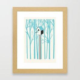 Forest 2 Bird House Framed Art Print