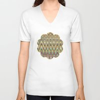 stripe V-neck T-shirts featuring Swag stripe by Shelly Bremmer