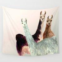llama Wall Tapestries featuring Llama by Big AL