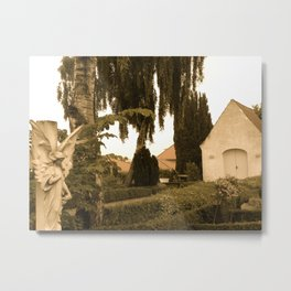 Peaceful Churchyard in Denmark I  Metal Print