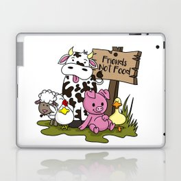 Friends Not Food Animal Rights Pig Cow present Laptop & iPad Skin