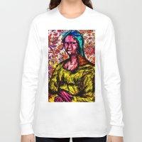 mona lisa Long Sleeve T-shirts featuring Mona Lisa by Alec Goss