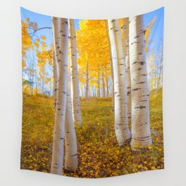 Aspens In Autumn, Utah Wall Tapestry