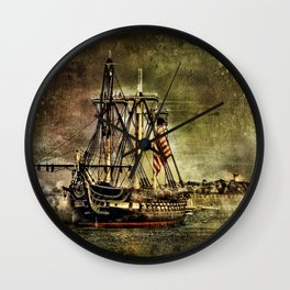 Tall ship USS Constitution Wall Clock