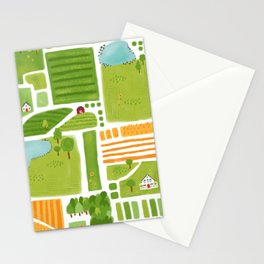 Bird's Eye View of the Countryside Stationery Cards