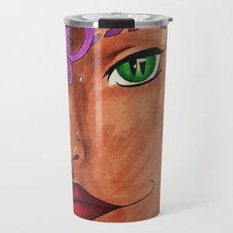 Purple Curls Travel Mug