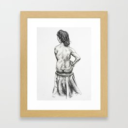 Strength in Thoughts Framed Art Print