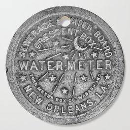 New Orleans Water Meter Cover Crescent City Louisiana Cutting Board