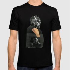 What's Going On ? MEDIUM Mens Fitted Tee Black