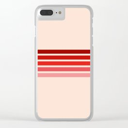"Red Rainbow ""Love"" Clear iPhone Case"