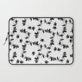 Ink Stroke: Black Floral II Laptop Sleeve