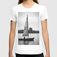 sailboat T-shirts featuring Sailboat by Jill Deering Creative