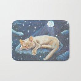 Cat Art, Mofeo and the Moon Bath Mat
