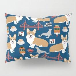 Corgi san francisco travel holiday vacation dog breed gifts Pillow Sham