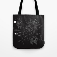 Twin Peaks Owl Cave Map Tote Bag