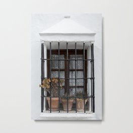 Andalusian Window Metal Print