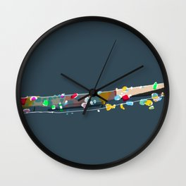 Sparkling river Wall Clock