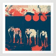 Exploration Fragments Tile 5/12 Art Print
