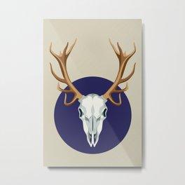 Chamanic blue deer skull Metal Print