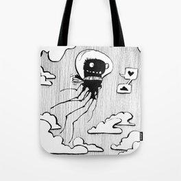 Flying squid – Seppiolina volante Tote Bag