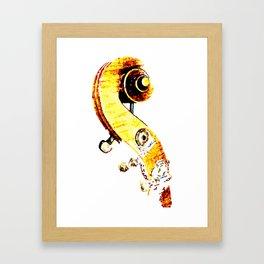 Jazz Contrabass Neck Framed Art Print