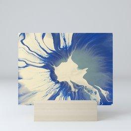 Aqua and Blue Spin Mini Art Print