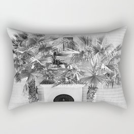 """Travel photography print """"Magical Marrakech"""" photo art made in Morocco. Black and white. Rectangular Pillow"""