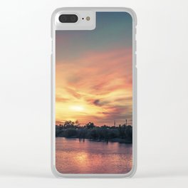 Sunset River - Sacramento River Clear iPhone Case