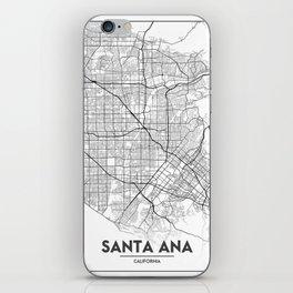 Minimal City Maps - Map Of Santa Ana, California, United States iPhone Skin