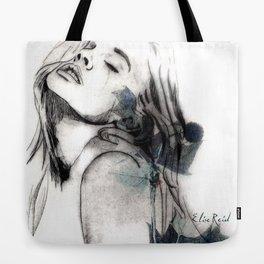 Fashion Illustration Blue Flower Sister 2 Tote Bag