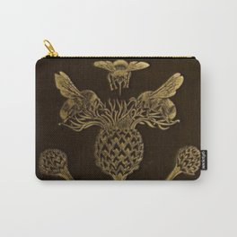 Bee And Thistle Carry-All Pouch