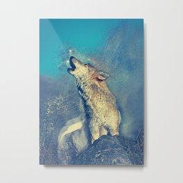 howling wolf art Metal Print