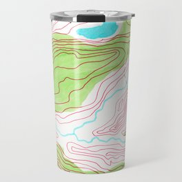 Let's go hiking - topographical map Travel Mug