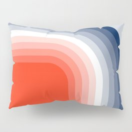 70s Stripes Rainbow Pillow Sham