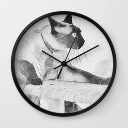 Moving On Up Wall Clock