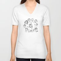 cactei V-neck T-shirts featuring GRLPWR by ☿ cactei ☿