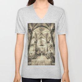 Rochester Cathedral Vintage  Unisex V-Neck