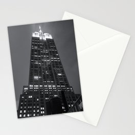 empire state lit up Stationery Cards