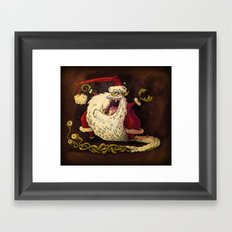 Santa Claws! Framed Art Print