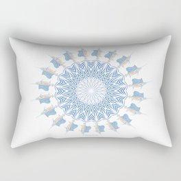 Tribal Sailfish Mandala V2 Rectangular Pillow