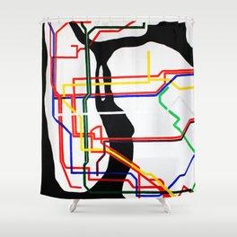 NYC Subway  Shower Curtain
