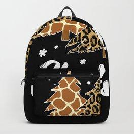 Christmas Tree Leopard Zebra Giraffe Backpack