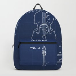 Electromagnetic Pickup Assembly for Guitar Vintage Patent Hand Drawing Backpack