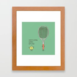 Angry ball Framed Art Print