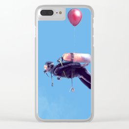 Scuba Sky Clear iPhone Case