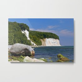 Chalk coast, Ruegen in Germany Metal Print