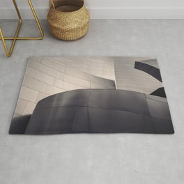 Architectural abstract, Black and White, LA Philharmonic, Architect: Frank Gehry Rug