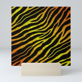 Ripped SpaceTime Stripes - Orange/Yellow Mini Art Print