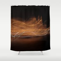 budapest Shower Curtains featuring Budapest Night - JUSTART © by JUSTART